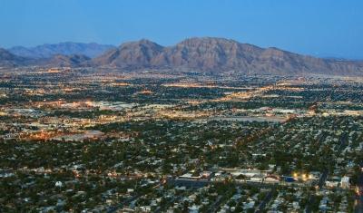 Aerial view of Las Vegas NV