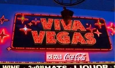 Viva Vegas sign Downtown Vegas