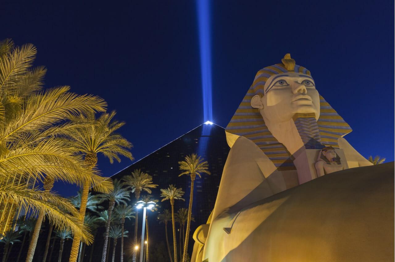 Luxor Casino at night