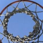 upward shot of basketball net