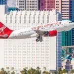 Virgin plane takin goff in Vegas