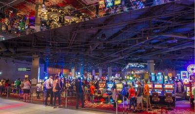 interior of SLS casino